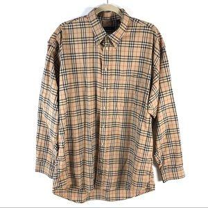 Burberry London Mens Classic Tartan Plaid Shirt